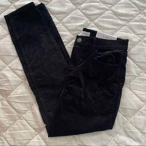 NWT LOFT Black Velvet Pants